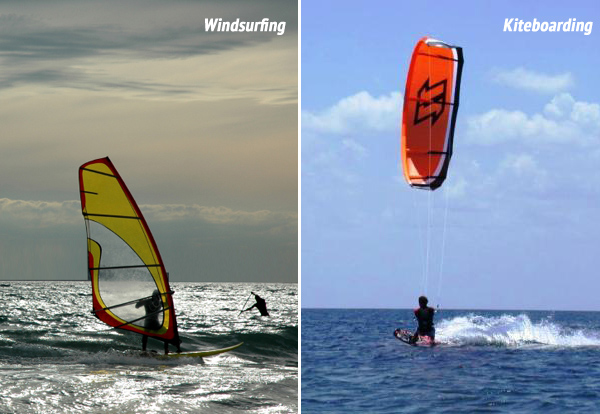 Difference Between Windsurfing Kiteboarding