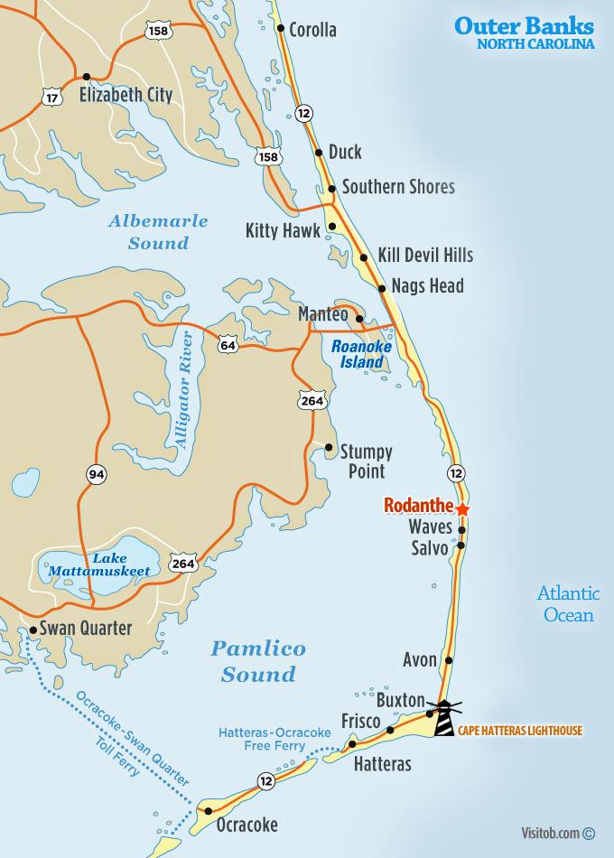 Map Of Rodanthe Nc
