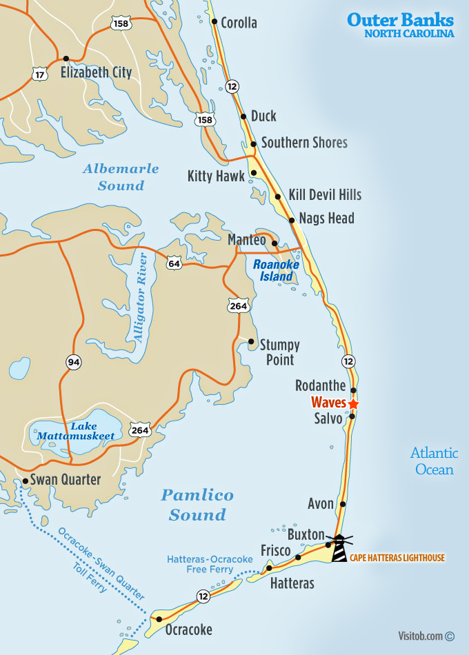 Waves Nc Visit Outer Banks Obx Vacation Guide