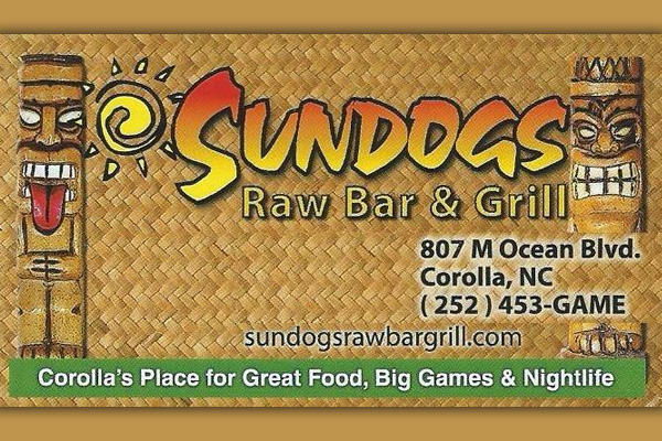 Sun Dogs Raw Bar & Grill Corolla NC, Outer Banks