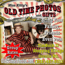Miss Kitty's Old Time Photos Corolla NC, Outer Banks
